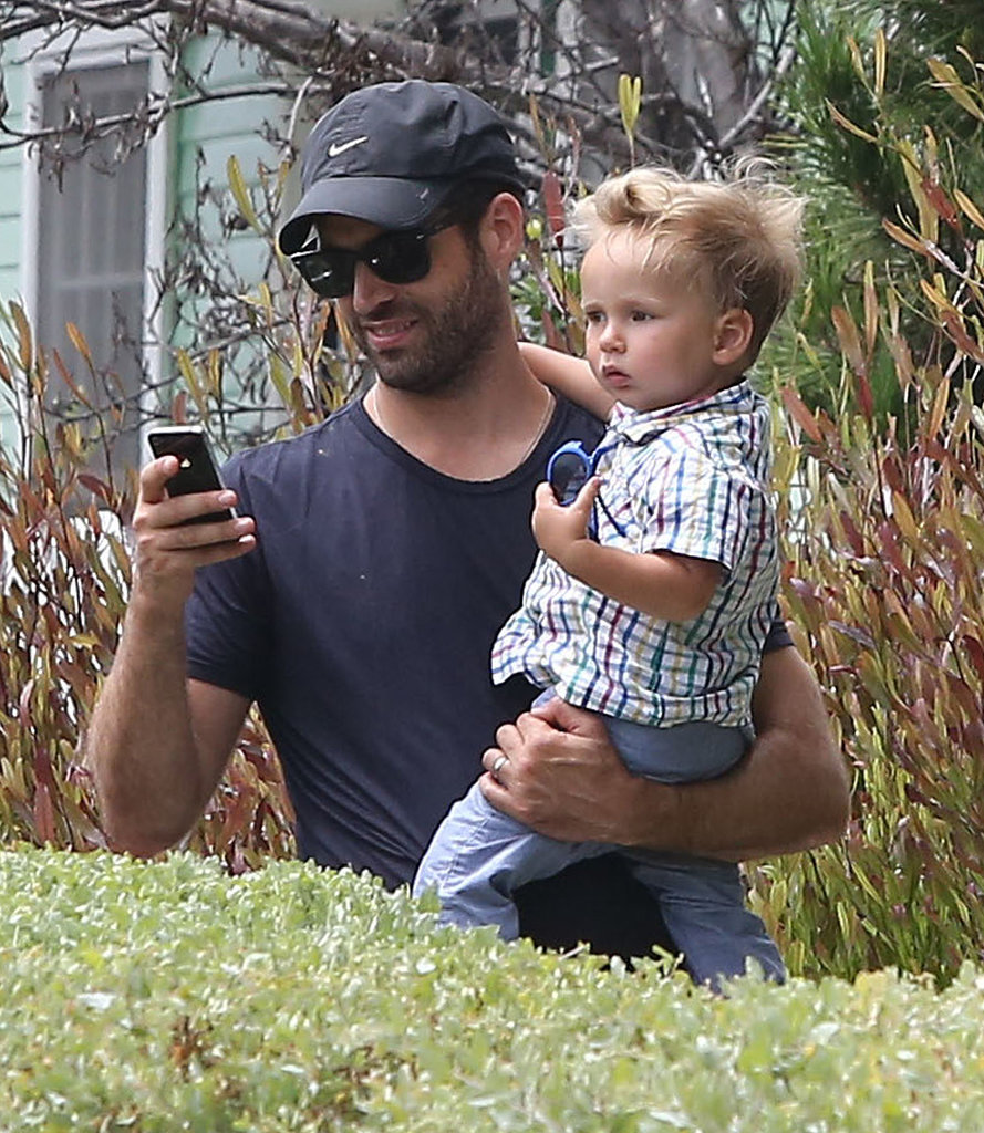 Benjamin Millepied spent time in LA with his son, Aleph.