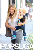 Hilary Duff had lunch with her son, Luca, on Saturday in LA.