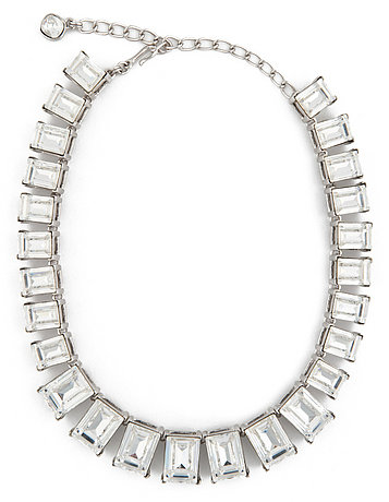 Kenneth Jay Lane Rectangle Crystal Necklace