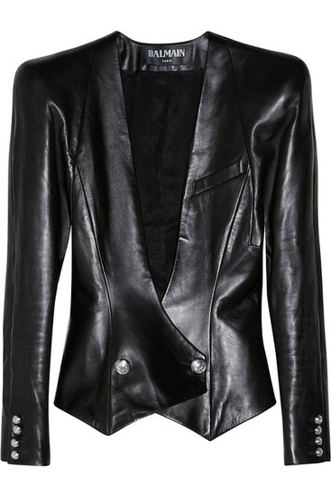 Want the definition of a power blazer? This option in  black leather ($1,933, originally $4,295) should fit the bill.