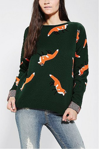 Because the more foxes, the merrier (obviously), pick up this The Orphans Arms Fox Sweater ($96).