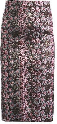 House Of Holland Metallic floral jacquard pencil skirt