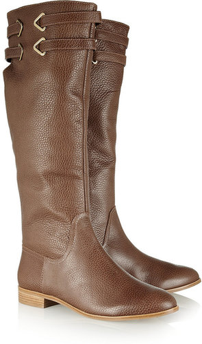 12th Street by Cynthia Vincent Buckle textured-leather riding boots