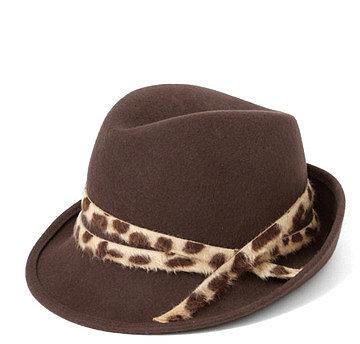 Doors Rebecca Leopard Ribbon Hat