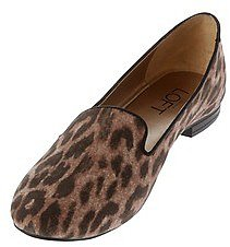 Leopard Print Andrea Smoking Loafers