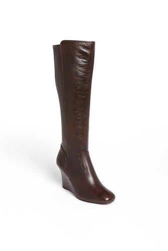 Tory Burch 'Hendin' Wedge Boot Womens Black Size 8.5 M 8.5 M