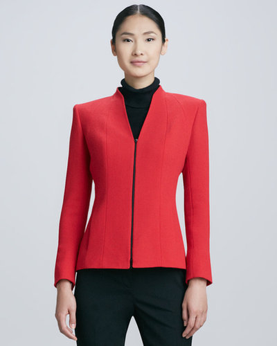 Lafayette 148 New York Tara Front-Zip Wool Jacket
