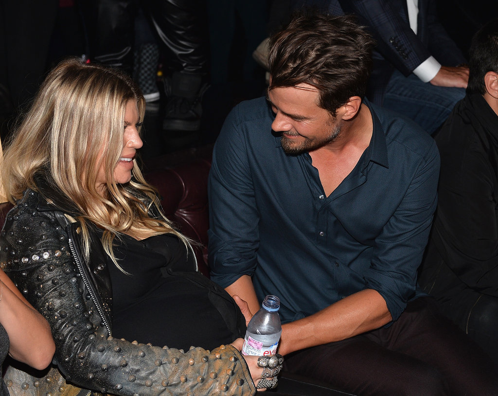 Josh Duhamel checked in on Fergie during the premiere afterparty.