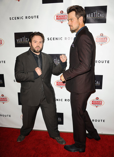 Josh Duhamel play-fought with costar Dan Fogler.