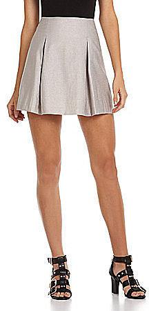 BCBGeneration Pleated Metallic Skirt