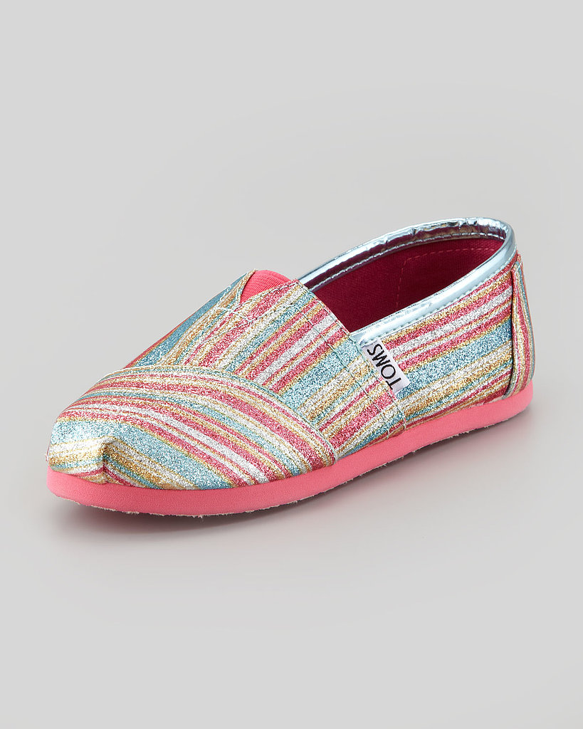 TOMS Glitter Striped Slip-On