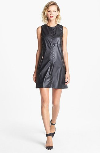 Ivy & Blu for Maggy Boutique Faux Leather Shift Dress