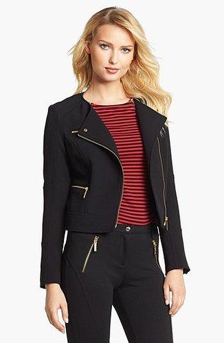 MICHAEL Michael Kors Knit Moto Jacket Large