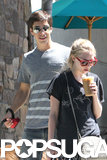 Amanda Seyfried sipped an iced drink while she was out with Justin Long.