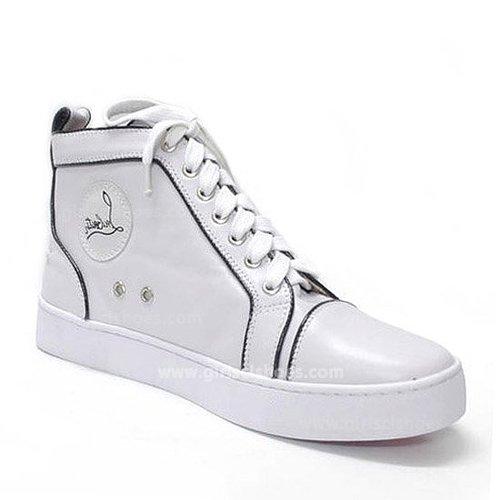 Hot White Christian Louboutin Sneakers Pony Sale
