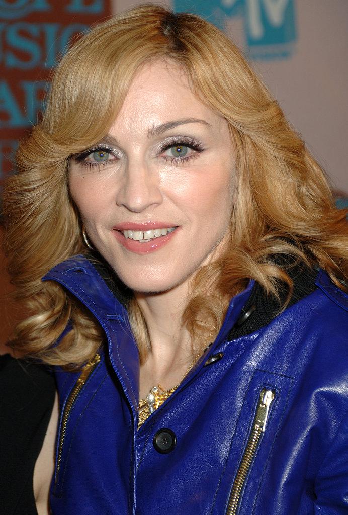 Madonna went for a Farrah Fawcett curl at the 2005 VMAs.
