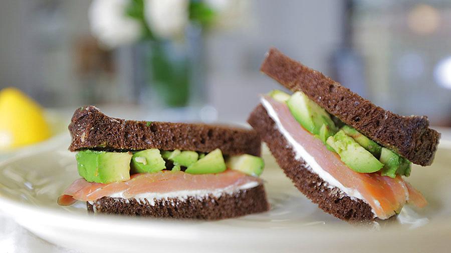 Salmon Wasabi Sandwich