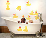 Pop & Lolli's set of 12 rubber duckie decals ($79) makes for a splashing good time!