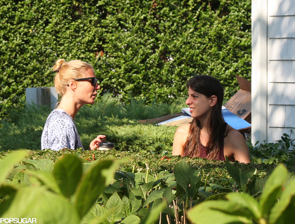 Gwyneth Paltrow grabbed coffee in the Hamptons.