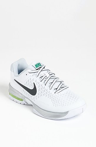 Nike 'Air Max Cage' Tennis Shoe (Women) Womens White/ Silver Size 8 M 8 M