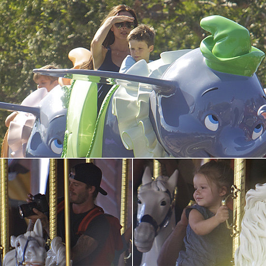 Yesterday, Victoria and David Beckham took their tots to Disneyland for an afternoon filled with Dumbo, merry-go-round rides, snacks, and more. It wasn't the brood's first visit to the Happiest Place on Earth —they've visited several times before.