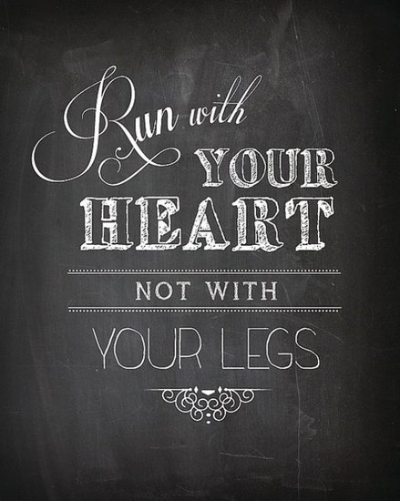 Let your heart be your guide with this Run With Your Heart Print ($15).