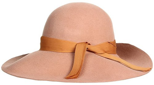 LAUREN Ralph Lauren - Wool Felt Wide Brim (Lockwood Taupe) - Hats