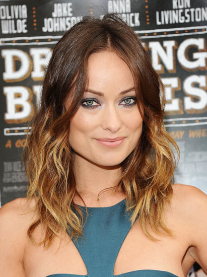 Olivia Wilde was out for a screening of Drinking Buddies in Brooklyn earlier this week. She opted for a metallic smoky eye that matched the teal hue of her dress. We'll be copying the look into Fall!