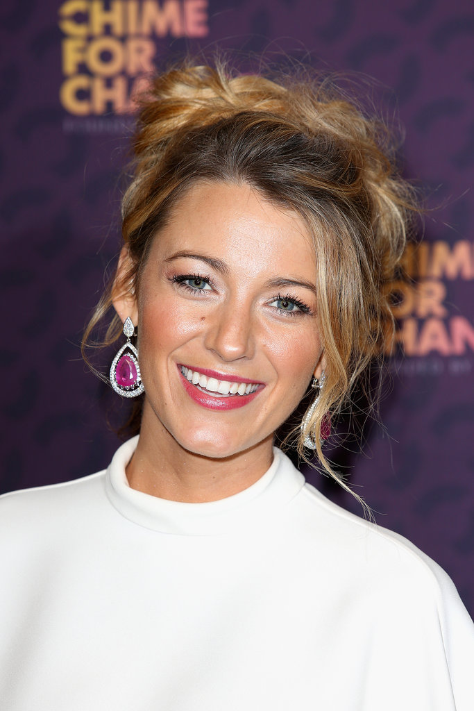 At this year's Chime For Change, Blake went for a textured updo that still has us envious of her gorgeous hair.