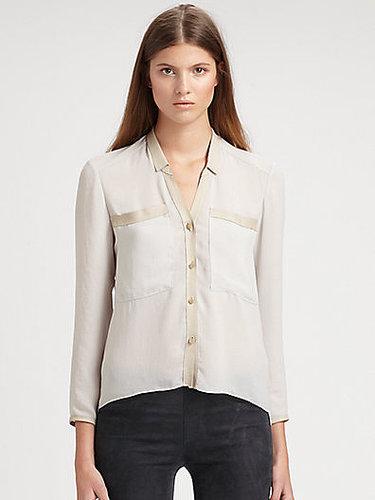 Helmut Lang Washed Crepe Shirt