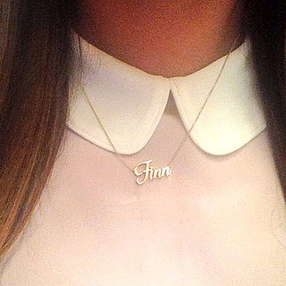 Lea Michele Wears a Finn Necklace on Glee Set
