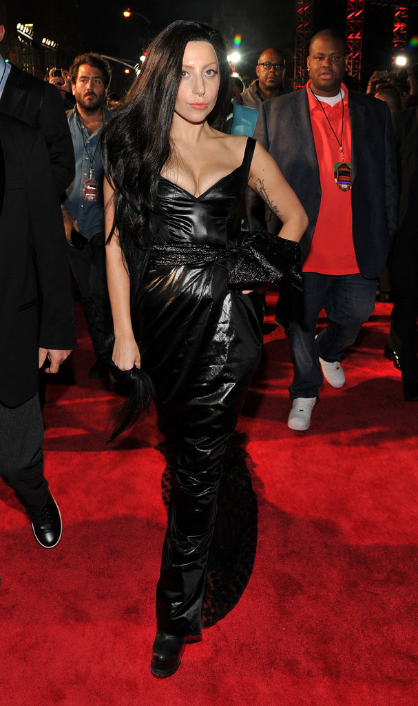 Lady Gaga struck a pose on the red carpet.