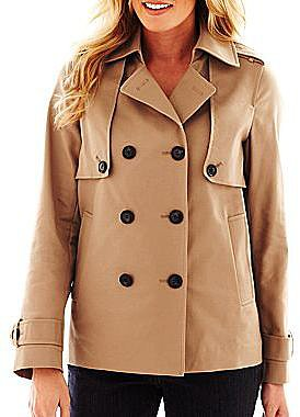 Liz Claiborne Cropped Trench Coat