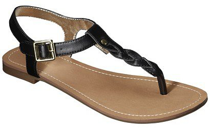 Women's Merona® Erin Braided Upper Sandal - Black