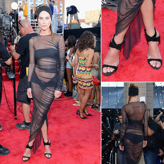 Erin Wasson Hits The 2013 MTV VMAs in Sheer Black- Like It?