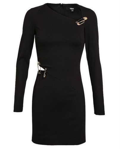 VERSUS Safety Pin Stretch Jersey Dress