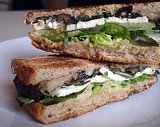 Eggplant, Mint, and Feta Sandwich
