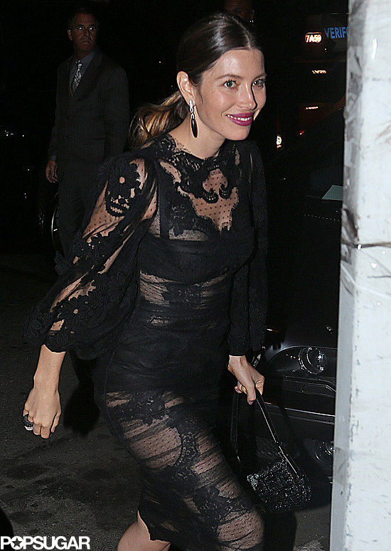 Jessica Biel headed to the VMAs afterparty with Justin Timberlake.