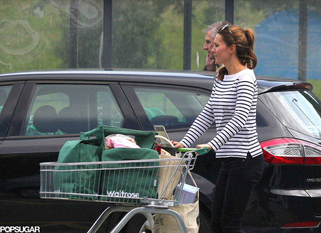 Kate Middleton visited the local market.