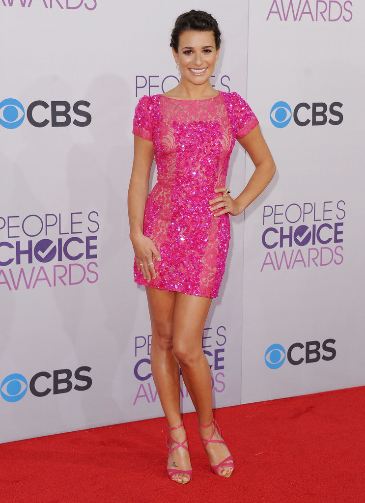 For the 2013 People's Choice Awards, Lea was pretty in pink donning head-to-toe Elie Saab.