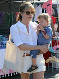 Selma Blair took her son, Arthur, to a fun-filled day at a farmers market in LA on Sunday.