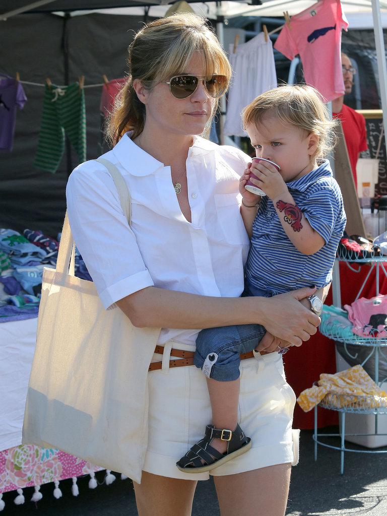 Selma Blair took her son, Arthur, to a fun-filled day at a farmers market in LA.