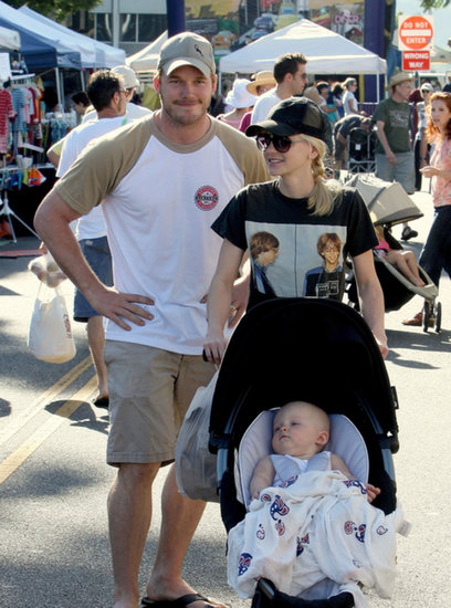 Anna Faris and Chris Pratt spent time at an LA farmers market.