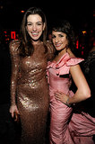 Lea Michele and Anne Hathaway made a glamourous pair at a January 2011 Golden Globes afterparty in LA.
