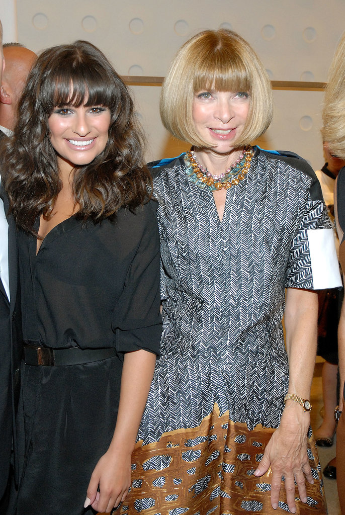 Lea Michele posed with Vogue editor Anna Wintour at a Fashion's Night Out event in NYC back in September 2011.