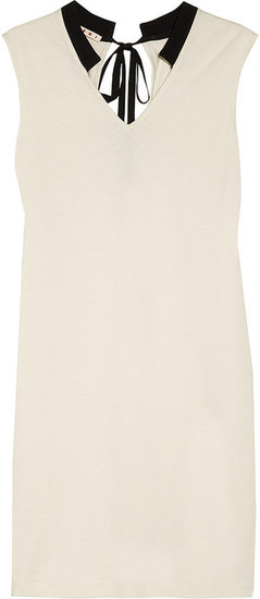 Marni Cutout-back cotton-jersey shift dress