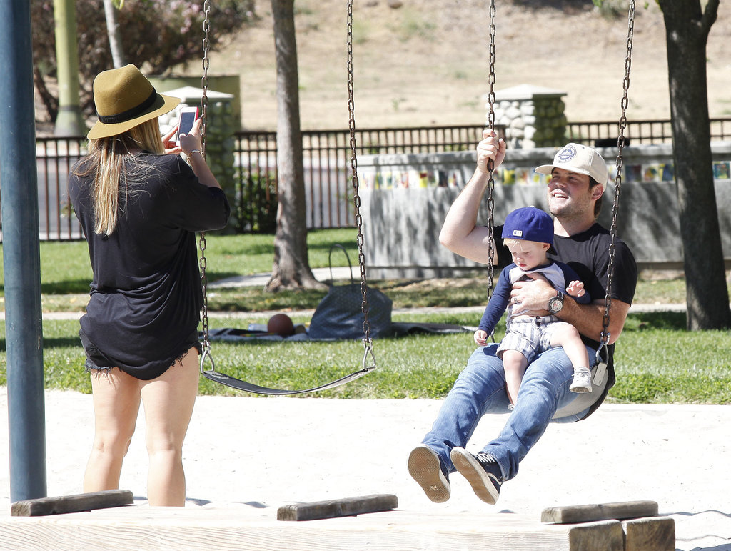 Hilary Duff Has a Super Sweet Park Day With Mike and Luca