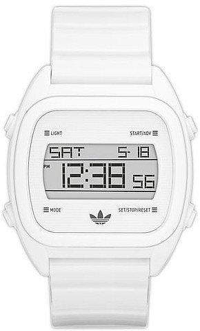 adidas Originals 'Sydney' Digital Resin Strap Watch White One Size