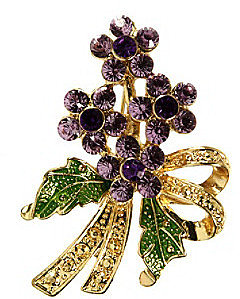 Napier® Boxed Gold/Purple Brooch Pin