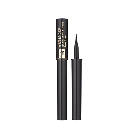 The felt tip on Lancome's Artliner ($30) makes creating the winged liner look a cinch (even for beginners). For Fall, try it in turquoise or forest green.